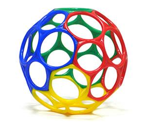 オーボール 10cm (レッド/ブルー/グリーン/イエロー)の画像
