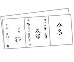 正式な命名書の書き方