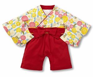 女の子袴カバーオールの画像