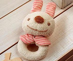 オーガニックコットンキットぬいぐるみキット【ウサギのがらがら手作りキット】の画像