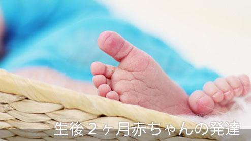 2ヶ月赤ちゃんの発育と発育を促す遊び方