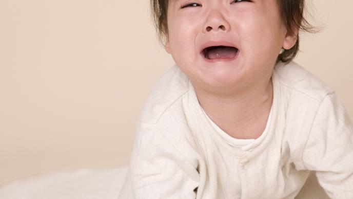 体調が悪くてギャン泣き中の赤ちゃん