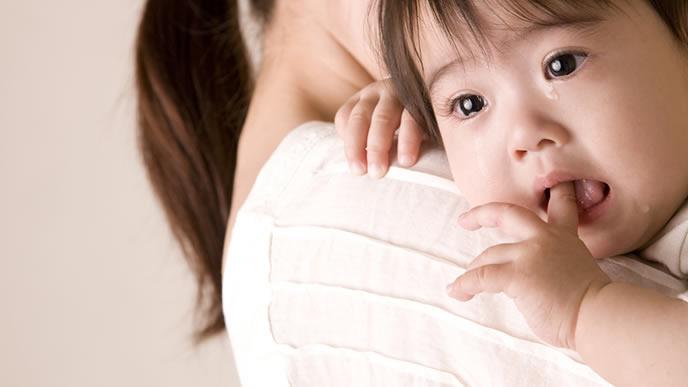 パパを発見してギャン泣きする赤ちゃん