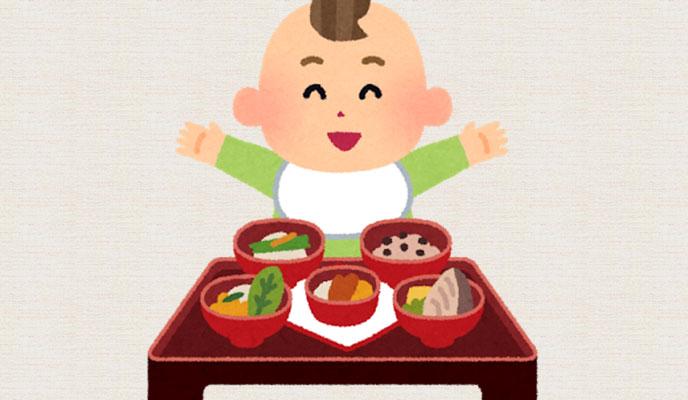 4ヶ月の赤ちゃんのお食い初め