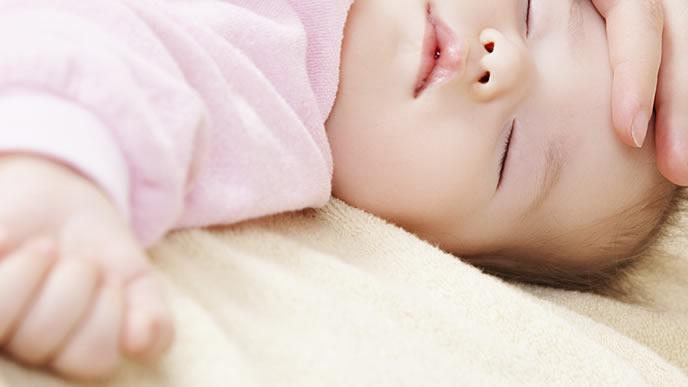 突発性発疹で熱がでた赤ちゃん