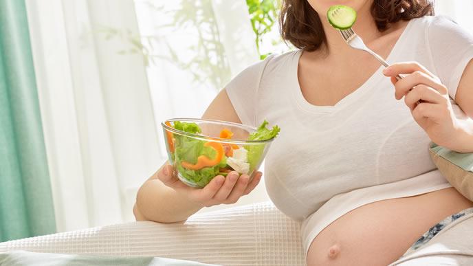 食欲旺盛で体重管理をついつい忘れる妊婦
