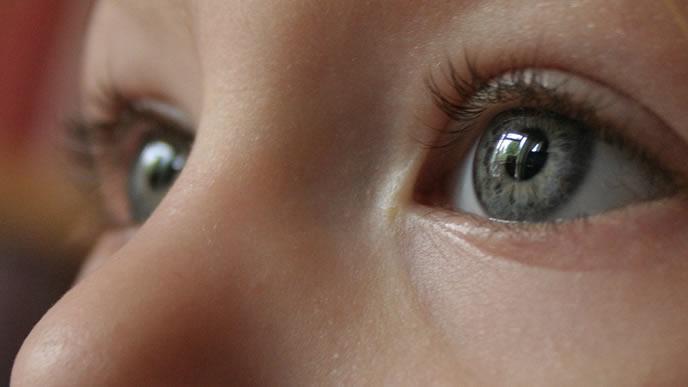 赤ちゃんのキラキラした綺麗な目
