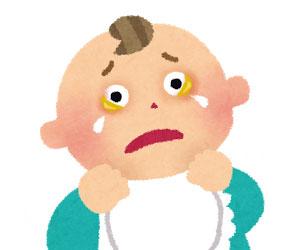 赤ちゃんの黄色い目やに拡大図