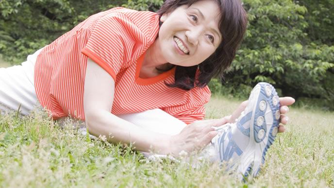 高齢出産を控え運動を始める女性