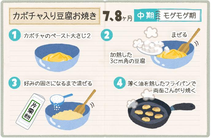 カボチャ入り豆腐お焼きの作り方