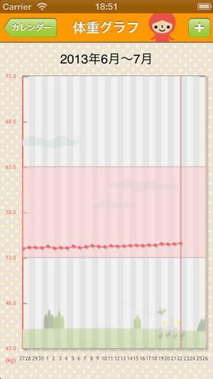 グラフで見やすいデザイン!にんぷメモの画像