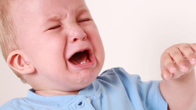 断乳が嫌でギャン泣きしている赤ちゃん