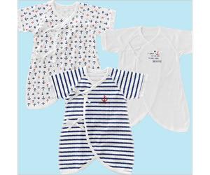 フレンチマリン新生児肌着6枚セットの画像