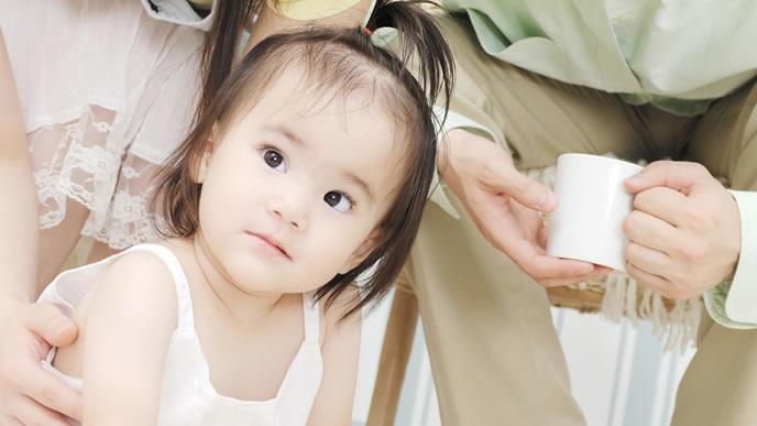 これから予防接種を控える赤ちゃん