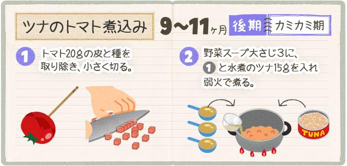 ツナのトマト煮込みのレシピ