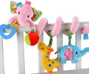 ベビー ベッド メリー 赤ちゃん ジム かわいい おもちゃ (ぞう(ピンク))の画像