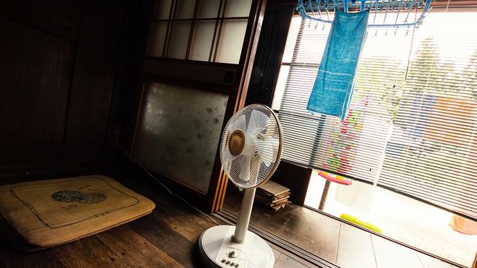 暑い夏に大活躍する年代物の扇風機