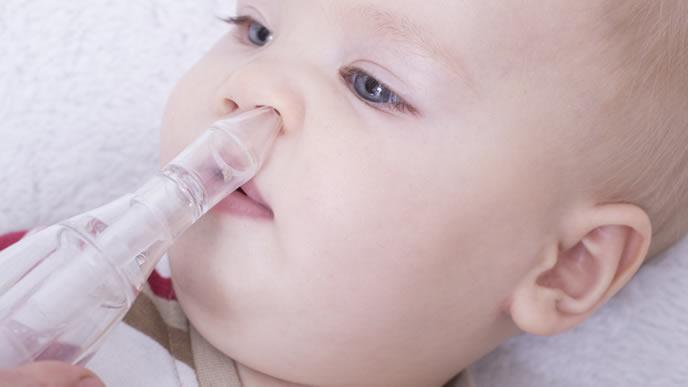 鼻水が止まらない夏風邪をひいた赤ちゃん