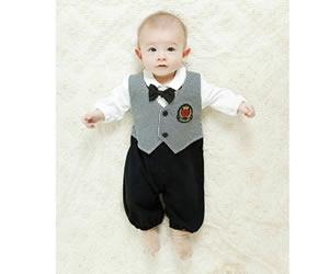 【新生児 フォーマル】タキシード風 ツーウェイオールの画像