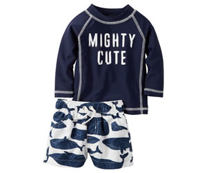 Carter's 2-Piece Mighty Cute Rashguard Setの画像