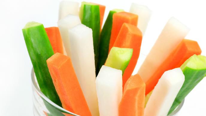 歯がためにも使える野菜スティック