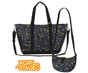 X-girl StagesとROOTOTEの限定コラボレーション親子バッグ