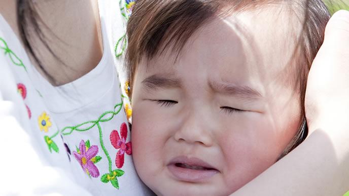 とびひに罹りギャン泣きする赤ちゃん