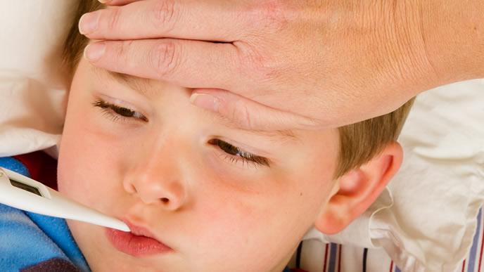 予防接種後熱を出した赤ちゃん