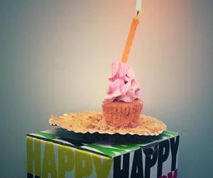 SNS用に準備されたハーフバースデーのケーキ画像