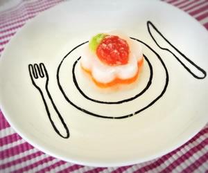 ハーフバースデーの離乳食ケーキの画像