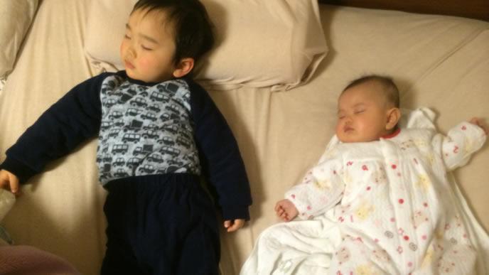 家庭内でとびひに感染した兄と妹