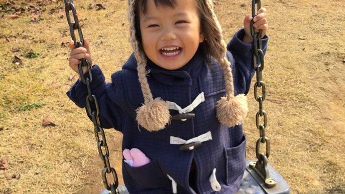 感情豊かで笑顔が可愛い女の子