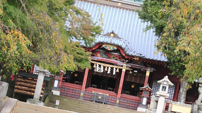 閑散としている伊豆の神社