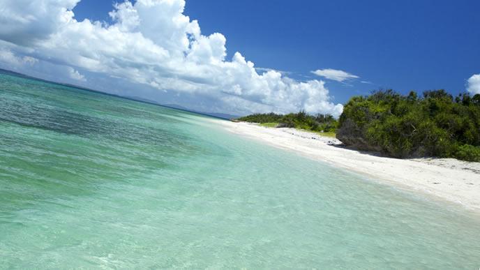 透き通る海が魅力的な沖縄