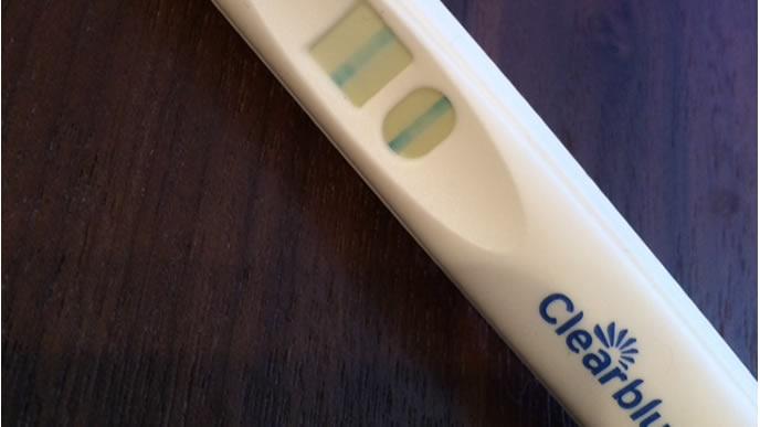 妊娠検査薬の反応