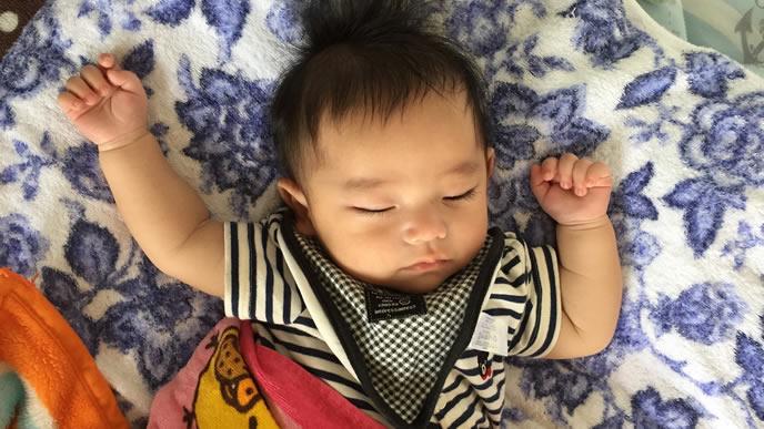 ヘルパンギーナの高熱が下がった赤ちゃん