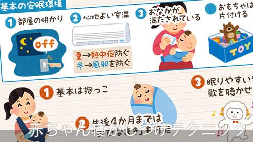赤ちゃんの寝かしつけ|基本から応用まで7つのテクニック