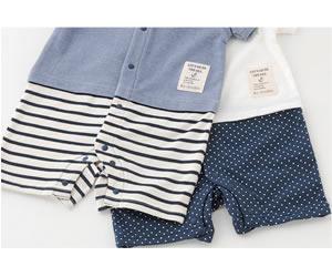半袖セーラー衿カバーオール/Bonchouchouの画像