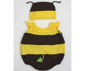 ハチ帽子付ロンパース/ミニビーンズの画像