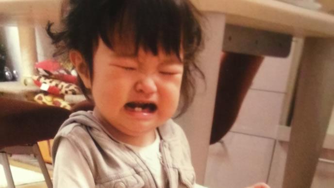 便秘でお腹が張りギャン泣きの女の子