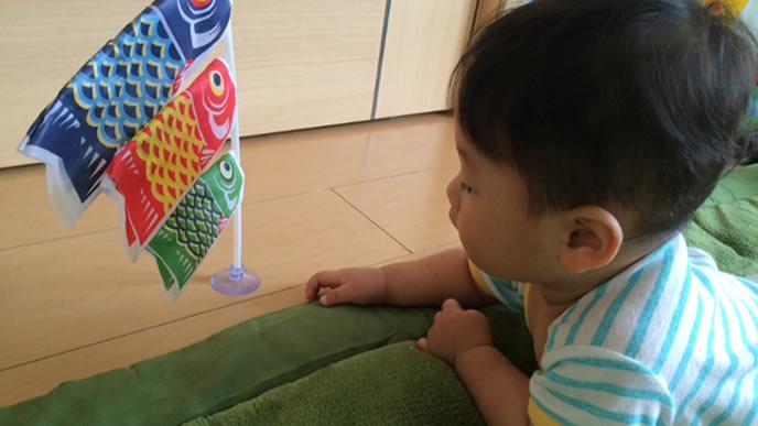 初節句を迎えた生後9ヶ月の赤ちゃん