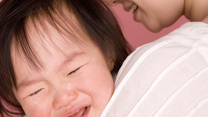 お風呂が嫌いで泣き出してしまった赤ちゃん