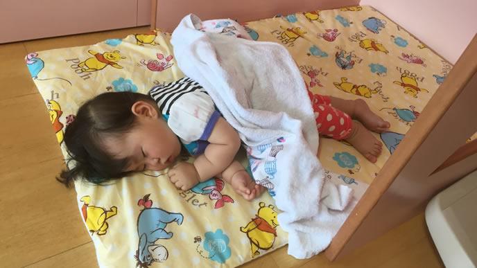 熱が下がり咳も止まった赤ちゃん