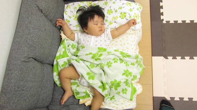寝ている時も咳がでる赤ちゃん