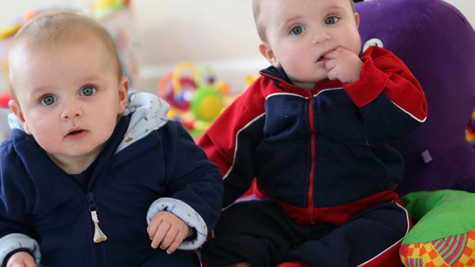 ミルクが欲しくてママを探す双子の赤ちゃん