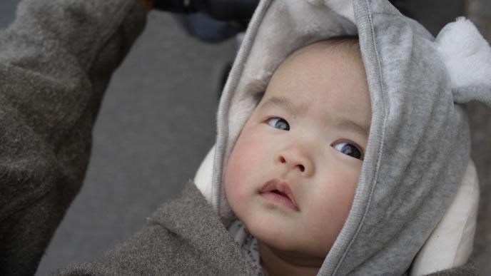 嫌なことがあり不機嫌になる赤ちゃん