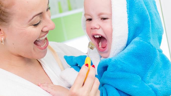 歯磨きが苦手な赤ちゃん