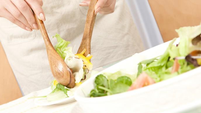 野菜中心の規則正しい食生活