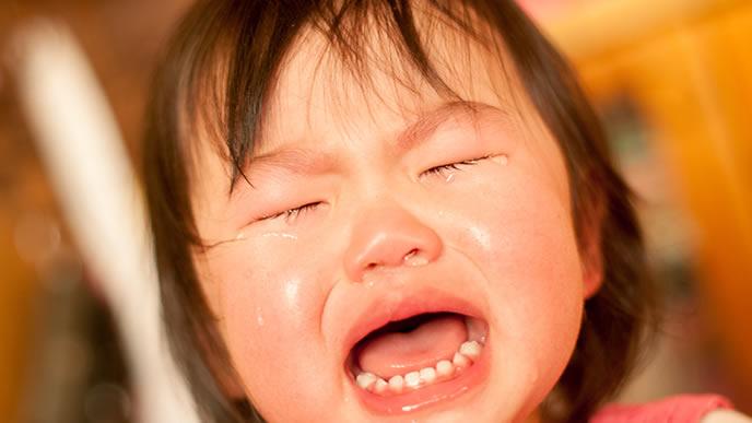 癇癪でギャン泣きする赤ちゃん