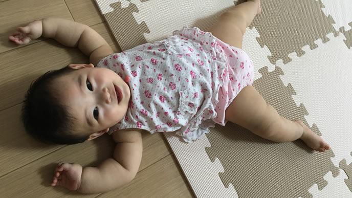 異常もなく健康に育っている赤ちゃん